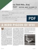 Prologue - Winter 2009 - A Hero Pigeon of World War I