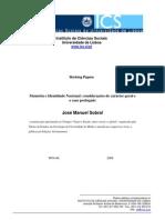 Memória e Identidade Nacional_considerações de Carácter Geral e o Caso Português
