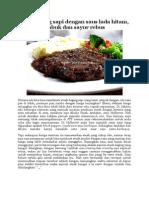 Steak Daging Sapi Dengan Saus Lada Hitam