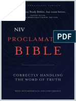 NIV Proclamation Bible Sampler