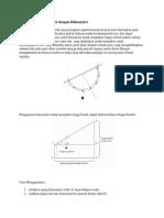 Mengukur Tinggi Pohon Dengan Klinometer