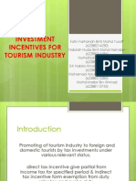 Investment Incentives for Tourism Industry