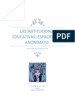 LAS INSTITUCIONES EDUCATIVAS