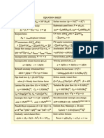 Fluids Equations Sheet