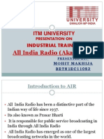 All India Radio Training Gwalior