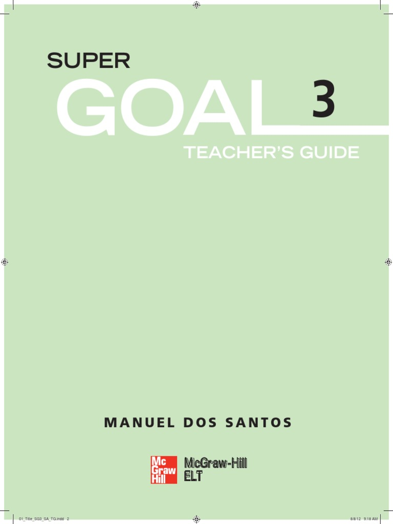 super goal 3 1 pdf question reading process rh scribd com Kindergarten Teacher Goals Teacher Goal Setting Examples
