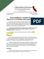 Summary of U.S. Senate Torture Report