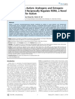 Sex Hormones in Autism - Androgens and Estrogens Differentially and Reciprocally Regulate RORA, A Novel Candidate Gene for Autism