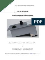 Studio Remote Manual 1.02