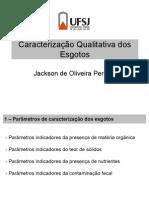 Caracterização Qualitativa Dos Esgotos - UFSJ