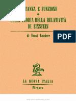 Cassirer-Sostanza e Funzione. Sulla Teoria Della Relatività Di Einstein-La Nuova Italia (1973)