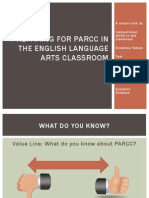 preparing for parcc in the english language arts
