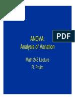 Analysis of Variation