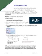 Footnotes 2007