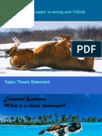 thesis sentences