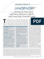Patellofemoral Joint Force and Stress Between a Short and Long Step Forward Lunge