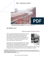 1961 Mauer Bau