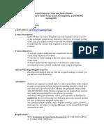 UT Dallas Syllabus for cjs4396.002 06s taught by John Mowery (jem011700)