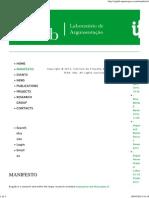 ArgLab (Laboratório de Argumentação, IfL, FCSH, UNL) Manifesto