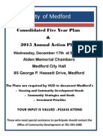 Consolidated 5 Year Plan & 2015 Annual Action Plan