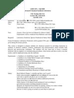 UT Dallas Syllabus for chem3471.001 05f taught by Kenneth Balkus (balkus)