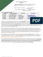 UT Dallas Syllabus for biol3102.003 05f taught by John Burr (burr)