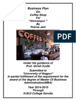 Cafe Paradiso Sample Business Plan