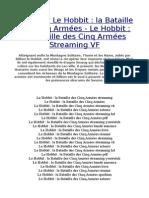 Le Hobbit 3 La Bataille Des Cinq Armées Streaming VF