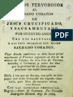 Afectos Fervorosos Al Sagrado Corazón de Jesús 1826