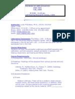 UT Dallas Syllabus for aud7321.001 05f taught by Linda Thibodeau (thib)