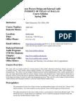 UT Dallas Syllabus for aim6380.501 06s taught by Mark Salamasick (msalam)