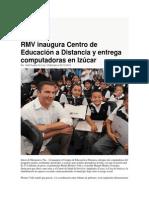 02-12-2014 Puebla on Line - RMV Inaugura Centro de Educación a Distancia y Entrega Computadoras en Izúcar
