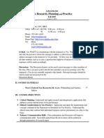 UT Dallas Syllabus for aim6356.501 05f taught by Ronald Blair (rblair)