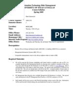 UT Dallas Syllabus for aim6336.501 05s taught by Mark Salamasick (msalam)