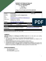UT Dallas Syllabus for aim6334.521 06u taught by Liliana Hickman-riggs (llh017100)
