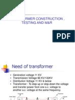 1transformer Construction ,Testing & Maintenance
