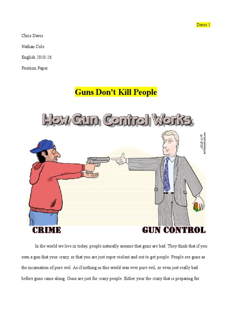 position paper on gun control