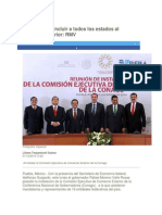 01-12-2014 - Periódico Digital.mx - Fundamental Incluir a Todos Los Estados Al Comercio Exterior, RMV