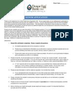 DEB USA Egg Donor Application