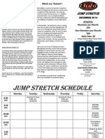 Jump Stretch December 2014 Schedule