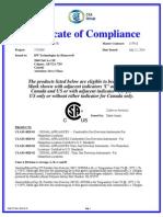 Gas Alert Micro Clip Certificado cumplimiento