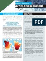 Brochure « Faire face aux changements climatiques en Abitibi-Témiscamingue »