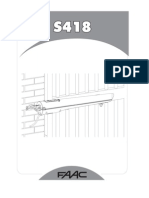 Manual automatizare porti batante FAAC S418