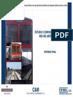 Estudio Complementario de La Red Del Metro de Lima