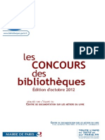 Les Concours Des Bibliothèques
