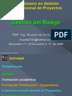 Gest Prof Proyectos Mod Riesgo Nov Dic 2009