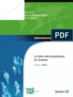 Institut de la statistique du Québec 2013 population report