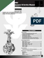 Twin Seal Válvulas Manual Oper. Mantto y Servicio