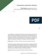 Conocimiento, cooperación y desarrollo  Sebastián