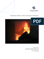 Validation Study of Fire Dynamics Simulator